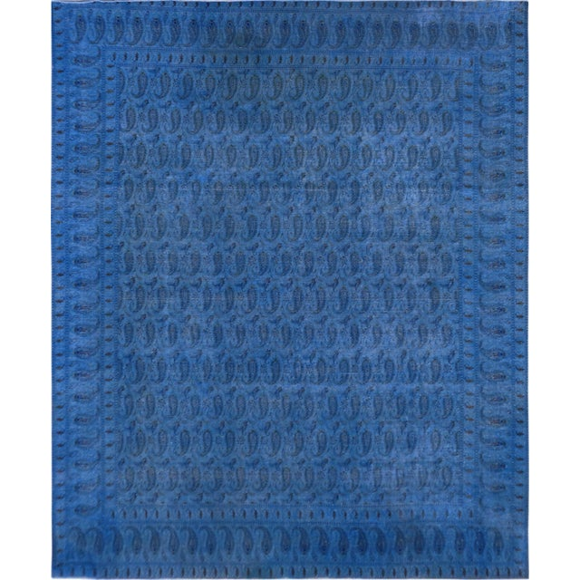 "Blue Vintage Overdyed Rug - 10'3"" X 12'9"" - Image 1 of 3"