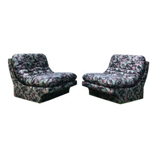 1980s Vladimir Kagan for Preview Lounge Chairs - a Pair For Sale