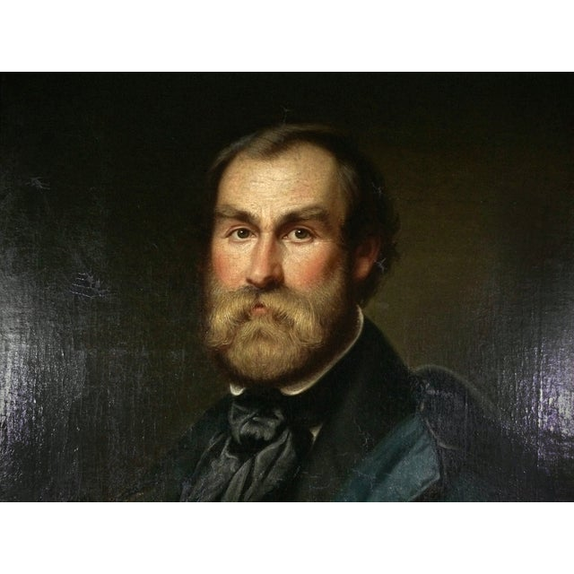 Antique Portrait Painting of a Gentleman - Image 2 of 4