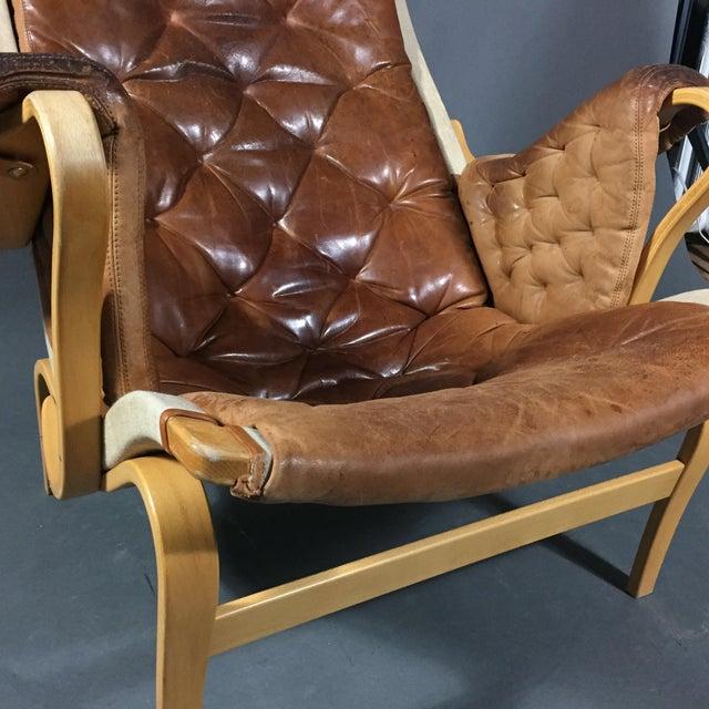 "1970s Scandinavian Modern Bruno Mathsson ""Pernilla"" Lounge Chair + Ottoman - 2 Pieces For Sale - Image 9 of 14"