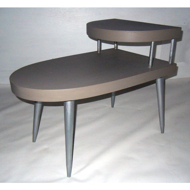 Mid-Century Two-Tiered Side Tables - A Pair - Image 7 of 8