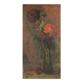 Impressionist Floral Still Life Painting For Sale