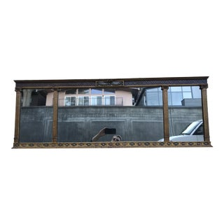 Vintage Neoclassical Style Gilded Wall Mirror For Sale