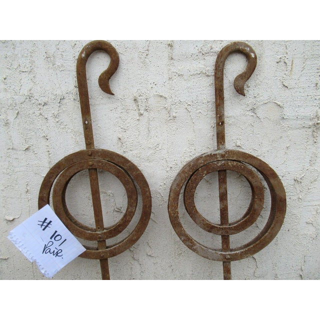 Victorian Antique Victorian Iron Gate Window Garden Fence #101 - a Pair For Sale - Image 3 of 7