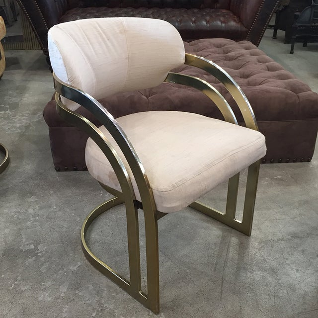 Milo Baughman-Style Vintage Armchairs - Set of 3 - Image 7 of 11