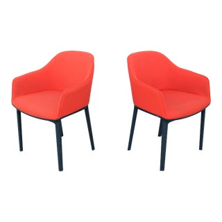 Modern Ronan and Erwan Bouroullec for Vitra Red Softshell Chairs - a Pair For Sale