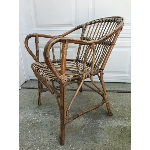 Oh what's not to love with all the vintage bamboo rattan resurgence right now? This is a Franco Albini Style piece. Very...