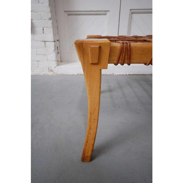 Neoclassical Revival 1950s Klismos Stool For Sale - Image 3 of 4