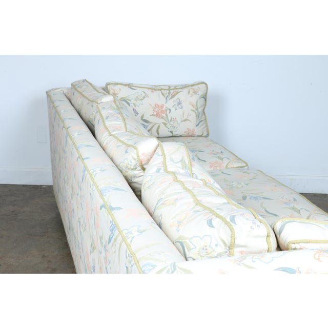 Mid-Century Modern Floral Sofa - Image 8 of 10