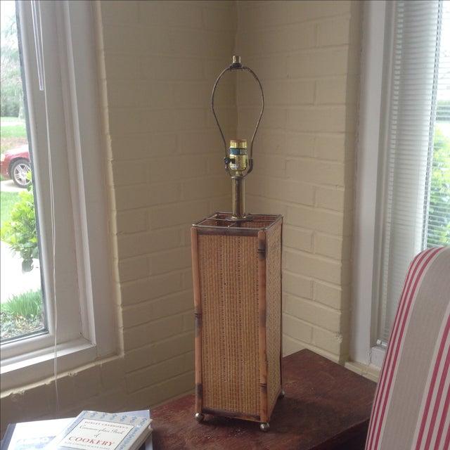 Vintage Rattan Table Lamp - Image 8 of 11