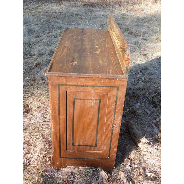 Cottage Antique Victorian Country Cottage Hand Painted Chest of Drawers Dresser Commode For Sale - Image 3 of 11