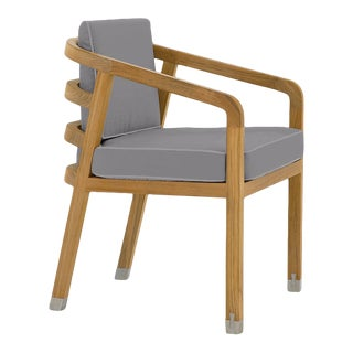 Linley Dining Arm Chair in Moonlit Orchid For Sale