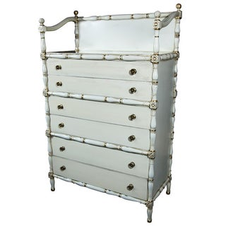 Maison Jansen Faux Bamboo & Gilt Decorated Dresser