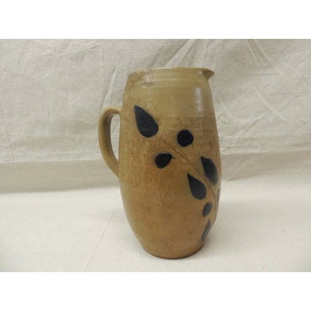Vintage Glazed Stoneware Water Pitcher - Image 2 of 4