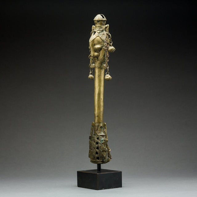 African Yoruba Bronze Osugbo Staff For Sale - Image 3 of 4