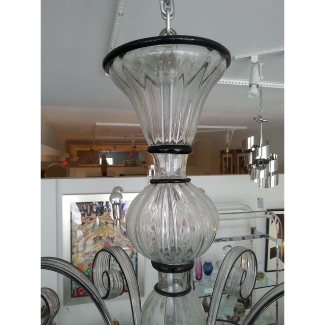 1990s Vintage Murano Louis XV Style Chandelier For Sale - Image 5 of 13