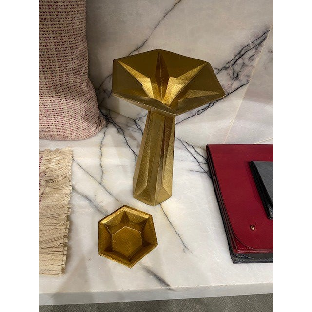 Mid-Century Modern Tom Dixon Candleholder Gold For Sale - Image 3 of 5