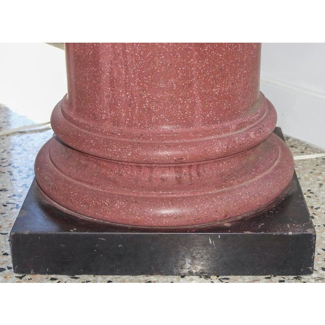 Neoclassical Revival 1920s Faux Porphyry Pedestal From Neoclassical Revival London, England For Sale - Image 3 of 10