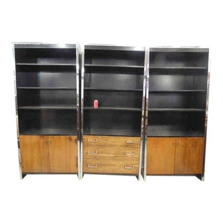 Milo Baughman for John Stuart Bookcases - Set of 3 For Sale