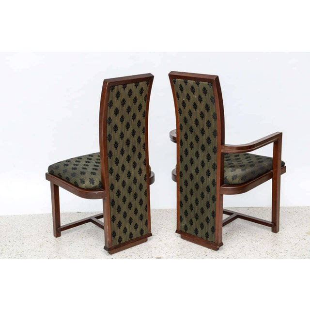 Mid-Century Modern Set of 12 Frank Lloyd Wright Taliesin Mahogany Dining Chairs by Henredon For Sale - Image 3 of 9