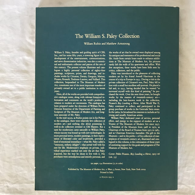 """White 1993 """"The William S. Paley Collection"""" First Edition Museum Art Book For Sale - Image 8 of 9"""
