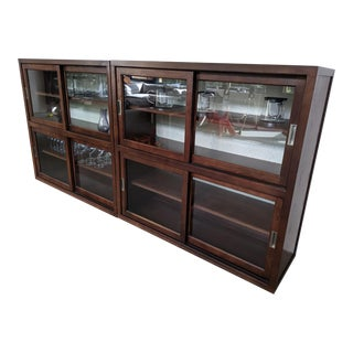 Thomas O Brien Cabinet Display Cases - A Pair For Sale