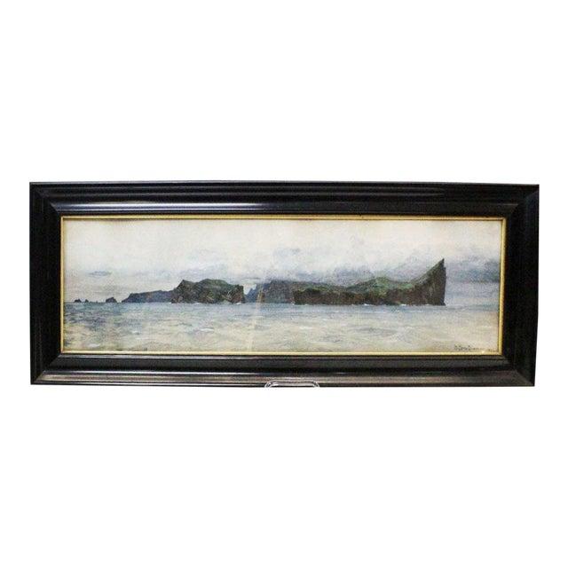 Zeno Diemer Harbor Scene Painting For Sale