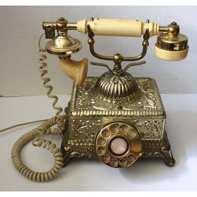 Hollywood Regency Brass Phone - Image 2 of 5