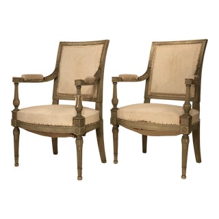 19th Century Vintage French Chairs- a Pair For Sale