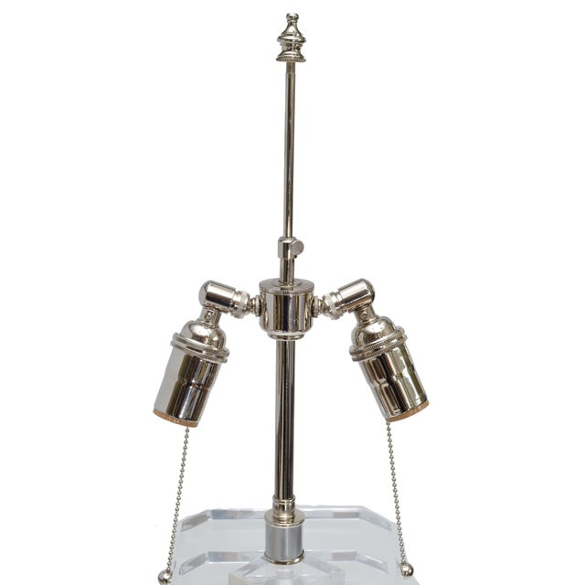 Pair of Stacked Lucite Table Lamps For Sale In Miami - Image 6 of 11
