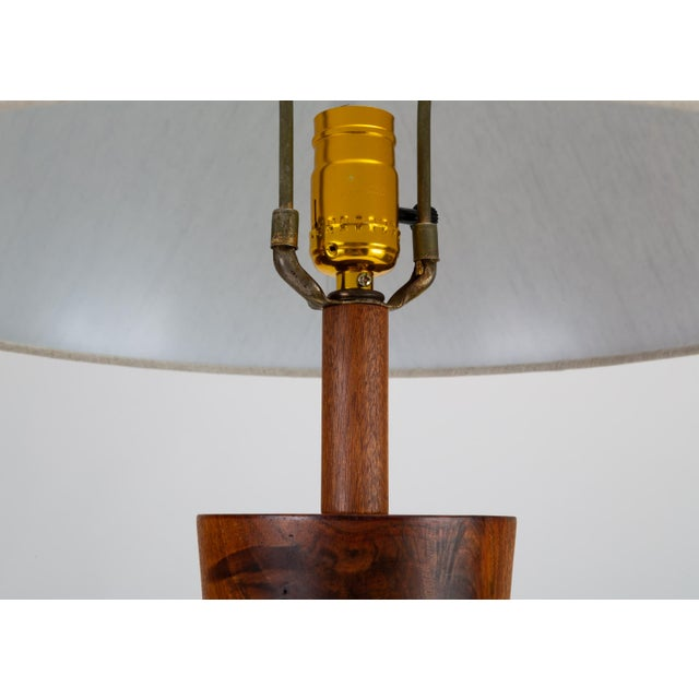Wooden Table Lamp With Tile Inlay by Gordon & Jane Martz For Sale In Los Angeles - Image 6 of 10