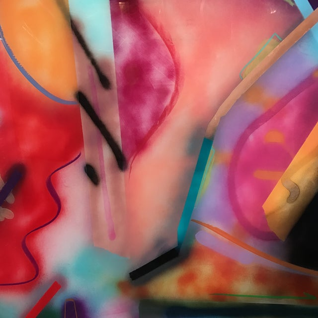 Jack Schulz Abstract Reverse Painting on Acrylic - Image 6 of 10