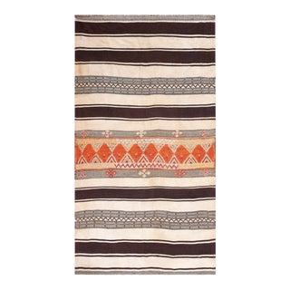 "Vintage North African Kilim, Moroccan Rug 5'4"" X 9'6"" For Sale"