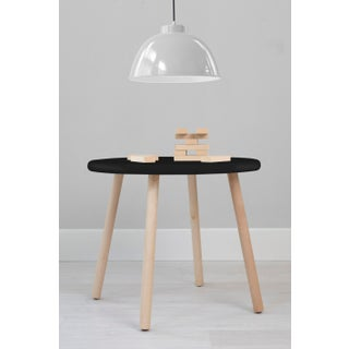 "Peewee Large Round 30"" Kids Table in Maple With Black Finish Accent Preview"