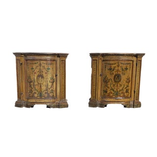 Antique Italian Painted Commodes - a Pair For Sale