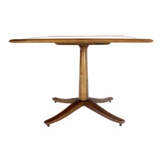 Drexel Walnut Square Occasional Side Table Stand For Sale