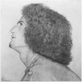 1959 Rossetti, Portrait of Algernon Charles Swinburne Original Hungarian Photogravure Print For Sale