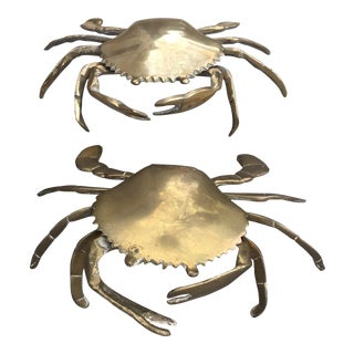 Vintage Brass Crab Figurines - A Pair For Sale