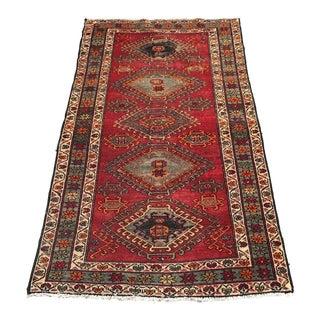 Vintage Persian Red Wool Rug - 3′9″ × 6′6″