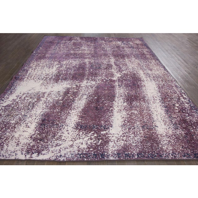 Vintage Overdyed Rug For Sale In New York - Image 6 of 7