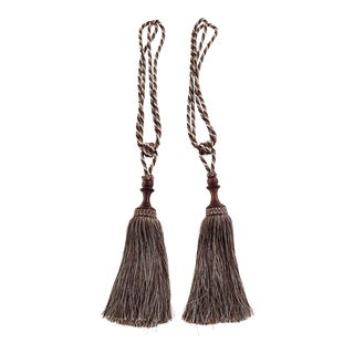 Silk Curtain Drawback Tassels - a Pair For Sale