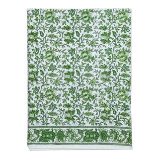 Aria Flat Sheet, Twin - Green For Sale