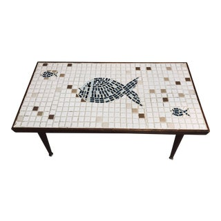 Mid-Century Mosaic Tile Table For Sale