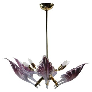 Franco Luce Italian Múrano Chandelier For Sale