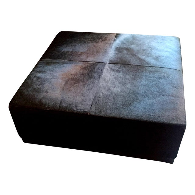 Cowhide Ottoman - Image 1 of 5