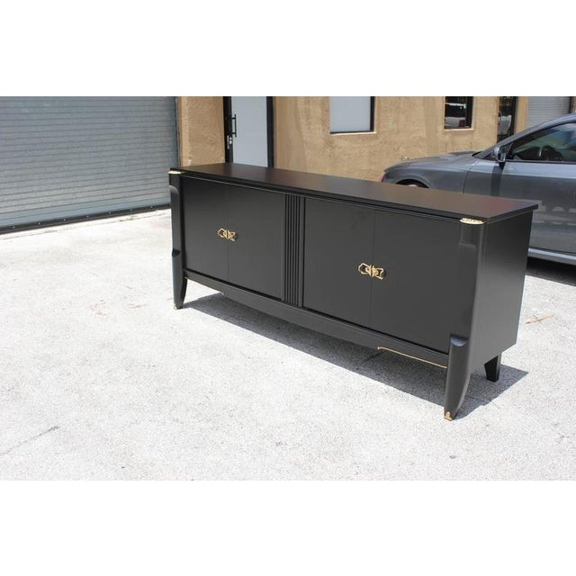 French Art Deco Ebonized Sideboard / Buffet / Bar - Image 4 of 10