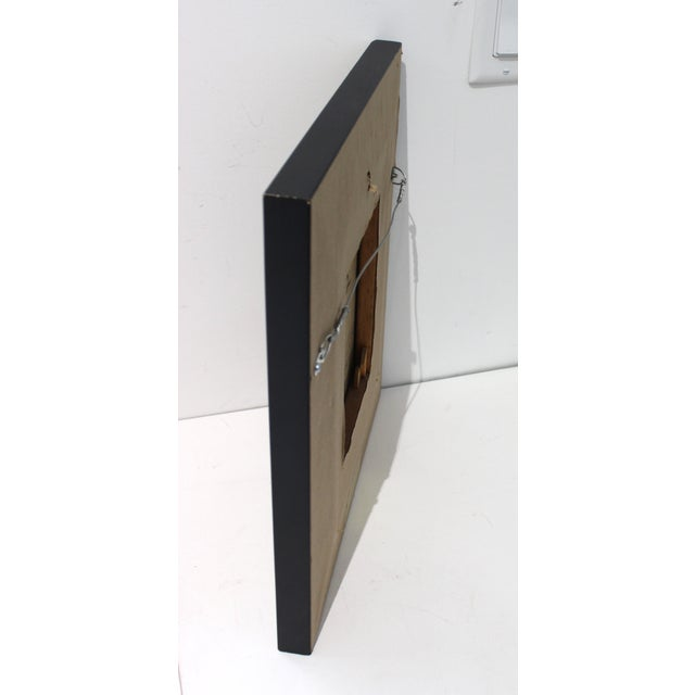 Gold Mid-Century 1955 Charles Cerny Trompe l'Oeil Oil Painting For Sale - Image 8 of 13