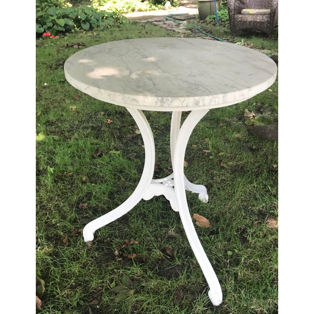 1900s 1900s French Marble Top Bistro Table For Sale - Image 5 of 5