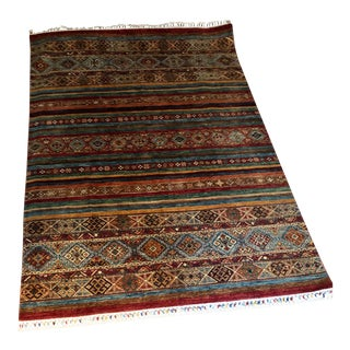 Handknotted Nomadic Heybe Turkish Rug - 6′ × 8′4″ For Sale