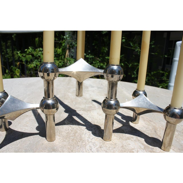 All Original Boxed Set of Mid-Century Nagel & Stoffi Modular Candleholders With Candles For Sale In Dallas - Image 6 of 12